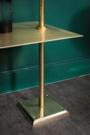 Rack 6 Shelves Shiny Brass