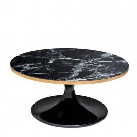 Contemporary Round Black Coffee Table
