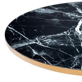 Table Basse Noire Ronde