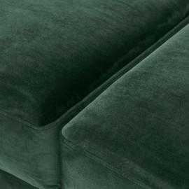 Ottoman Mondrian velours vert laurier