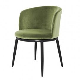 Dining Chair Balmore, Green Amaond Velvet set of 2