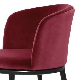 Chaises Balmore Rouge Bordeaux, set de 2