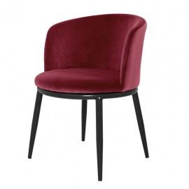 Dining Chair Balmore, Red Wine Velvet set of 2