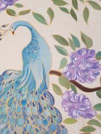 Panneaux décoratifs sur soie, la paire
