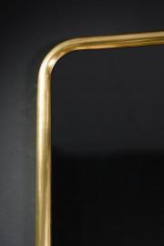 Miroir rectangulaire à galerie de laiton