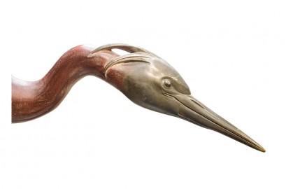 Flamingo in Porcelain, 62cm high
