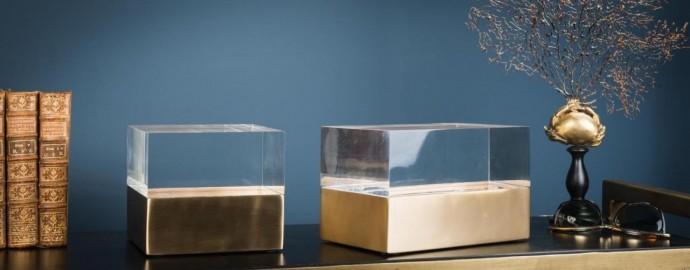 Acrylic Glass and Brass Box
