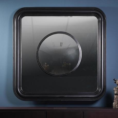 Round Convex Mirror in a Square One