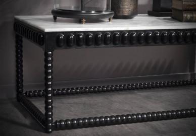 Table Basse Constantine, Manguier et Marbre L130cm
