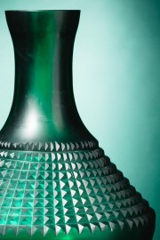 Blue and Green 70's Vase