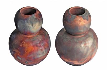 Contemporary Handmade Raku Vase