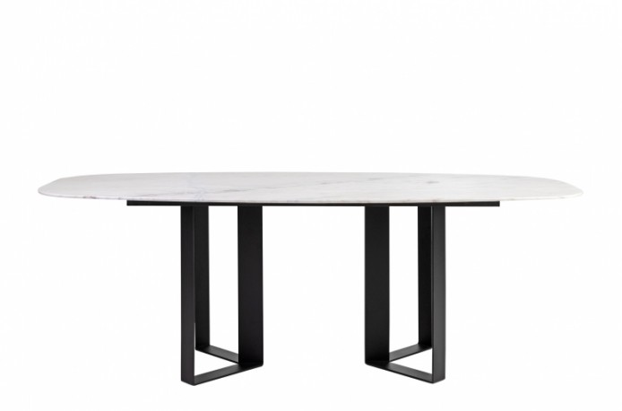 Oblong Marble Dining Table