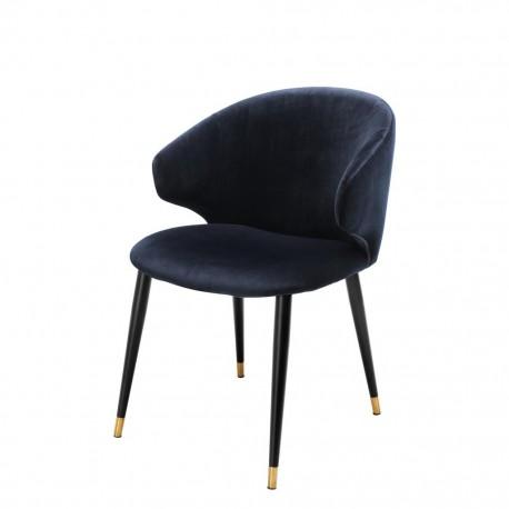 Dining Chair Talisker, Midnight Blue Velvet