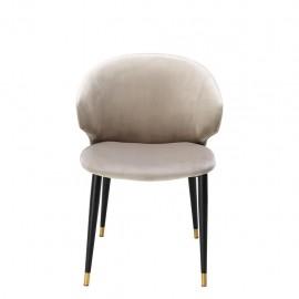 Dining Chair Talisker, White Ivory Velvet