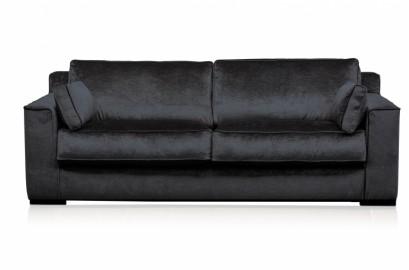 Cora, Velvet Charcoal Sofa - 220 cm