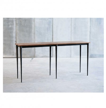Pythagore Console Hammered metal needle legs  Made to Order