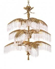 Brass and Crystal Chandelier Ceylan H88cm