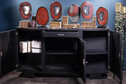 Buffet 1950 Art Déco Noir Graphite