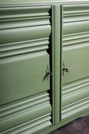 Buffet Vintage 3 Portes Art Déco Vert Bouteille