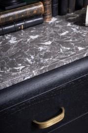 Art Deco Sideboard Mat Black, 40s