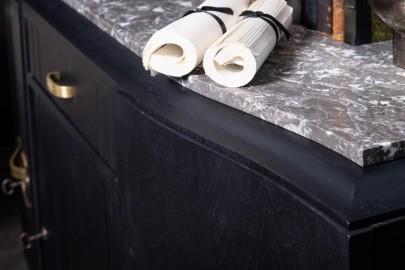 Buffet Art Déco 3 Portes Noir Mat