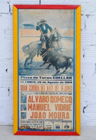 Poster on wood