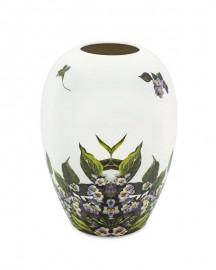 White Ceramic Vase Floral Print