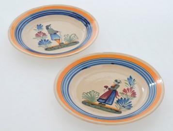 Deux Assiettes Henriot Quimper