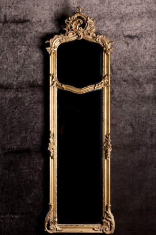 High Beveled Baroque Mirror