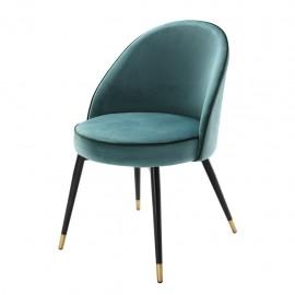 Dining Chair Blue Turquoise Velvet Bradley