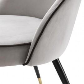 Dining Chair Cipria, Blue Velvet