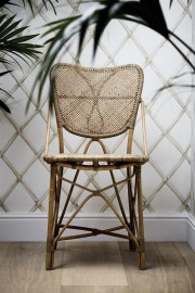 Rattan Chair Flore Ivory and Burgundy