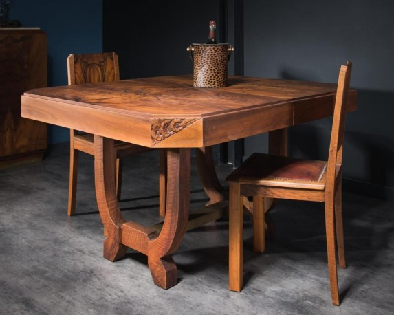 Art Deco Dining Table, 30s