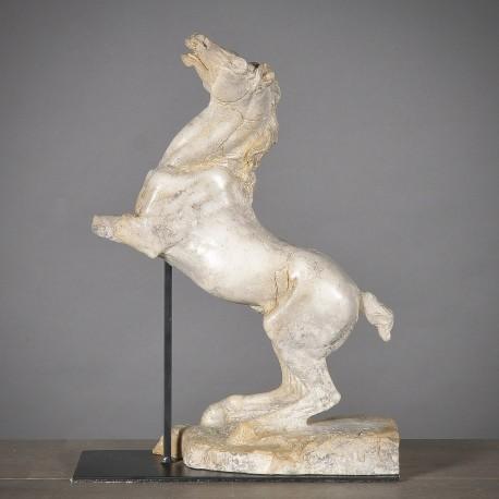 Statue Ancienne Cheval Se Cabrant
