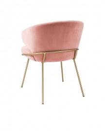 Dining Chair Bustier, Fresh Pink Velvet