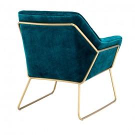 Blue Velvet Armchair Rock, 50s