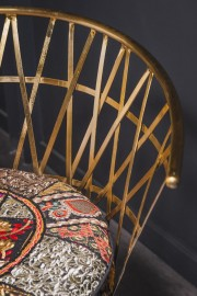 Bohemian Patchwork and Brass Ottoman