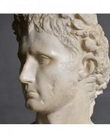 Empereur Auguste aux Lauriers - Buste H62 cm