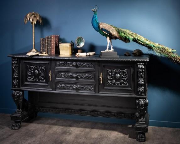 Antique carved Black Sideboard
