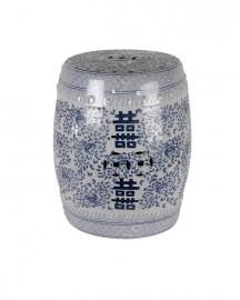 Tabouret ou Guéridon en Céramique Chinoisant