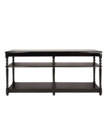Drapery Console Lacquered Red