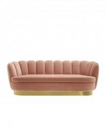 Peach Velvet Sofa Glossy