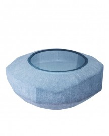 Hand Blown Blue Vase Silk H15cm