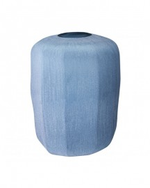 Blue Hand Blown Glass Base Silk