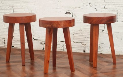 70's coffee table and stools.