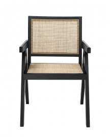 Rattan Dining Chair Black&White Color