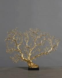 Gorgone Finition Dorée - H 45 cm
