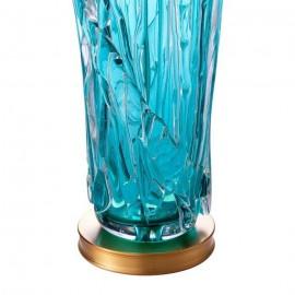 Lampe de Table Verre Turquoise Fait Main