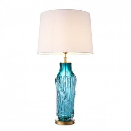 Table Lamp Hand Made Turquoise Glass