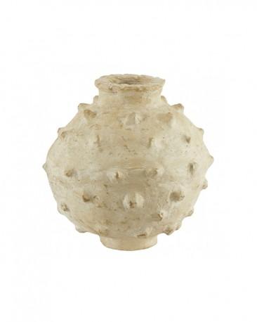 Decorative Vestige-Style Vase, Papier Maché
